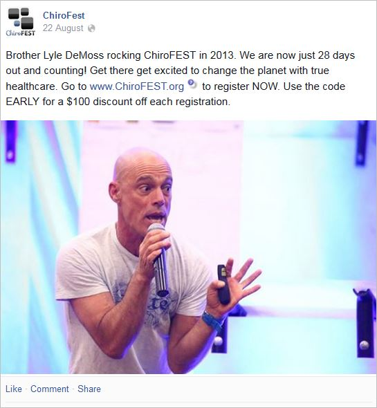 Chirofest 4 brother DeMoss