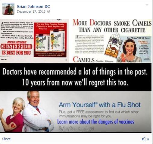 Johnson 7 dangers of vaccines meme