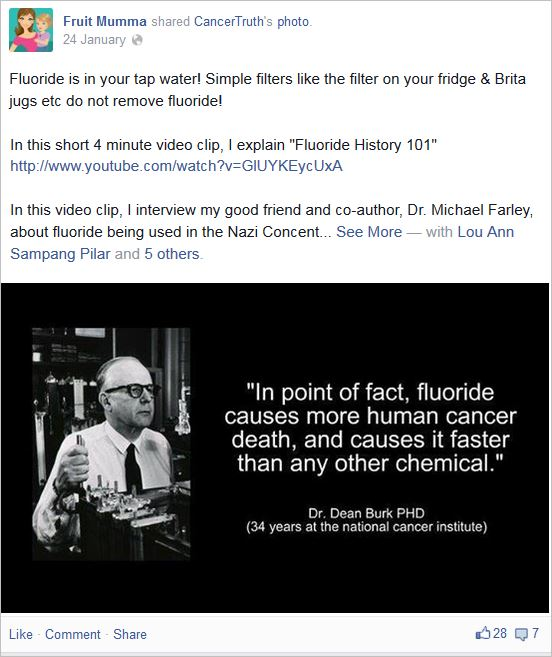 McBurnie 16 fluoride causes cancer deaths