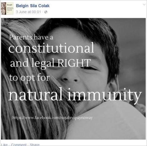 Belgin 10 right to natural immunity
