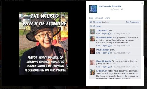 NFA 88 Jenny Dowell wicked witch bitch cunt