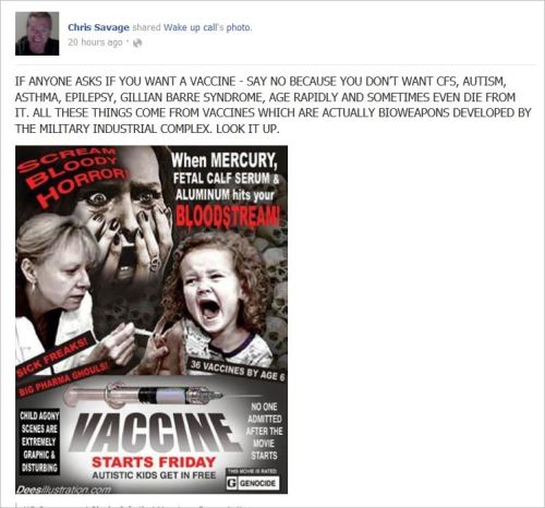 Savage 7 vaccine scare poster age quickly gillian barre