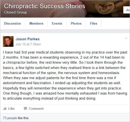 Parkes 2 3rd year med students in his practice