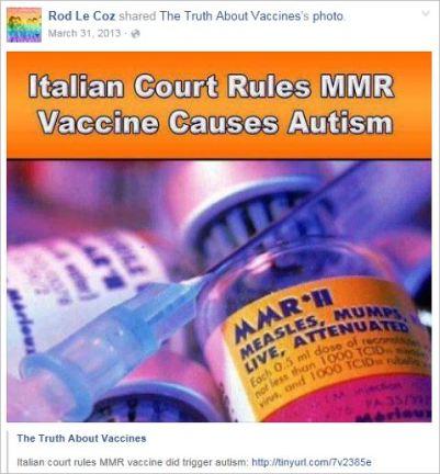 Le Coz 59 Italian vaccines cause autism profile