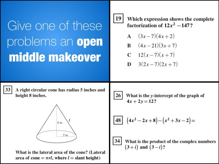 Open Middle Makeover