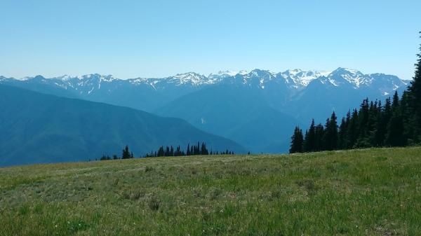Hiking mountain veiw
