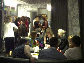 Women bloggers chatting in NYC in 2012