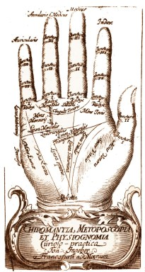 palmistry guide.  Palm reading told me i would travel.