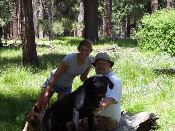 Daisy & Worf, Phoebe & Robin  Lemmon Meadow, Mount Lemmon, Santa Catalina Mountains, 2007
