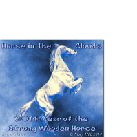 horse in the clouds image