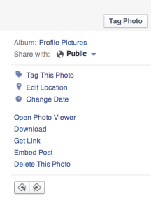 FB photo editing options