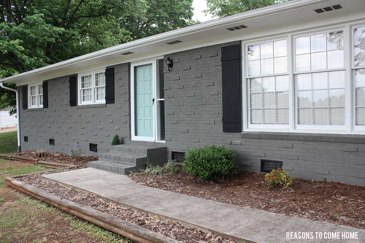 Painted Brick Reveal on Brick House Painting Ideas  id=22557