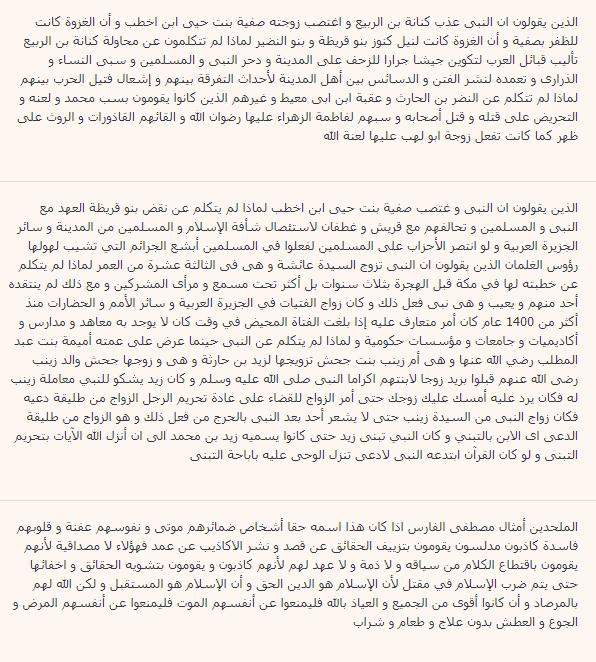 عينة من التعليقات المسيئة - احمد عبد النبي