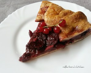 Špaldová galetka s třešněmi (Galette) | reBarbora's kitchen