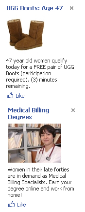Spammy Facebook Ads