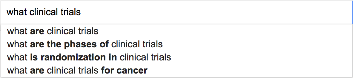 What clinical trials...