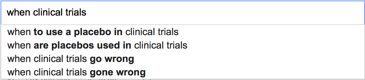 When clinical trials...