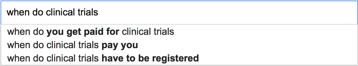 When do clinical trials...