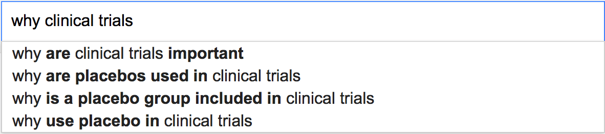 Why clinical trials...