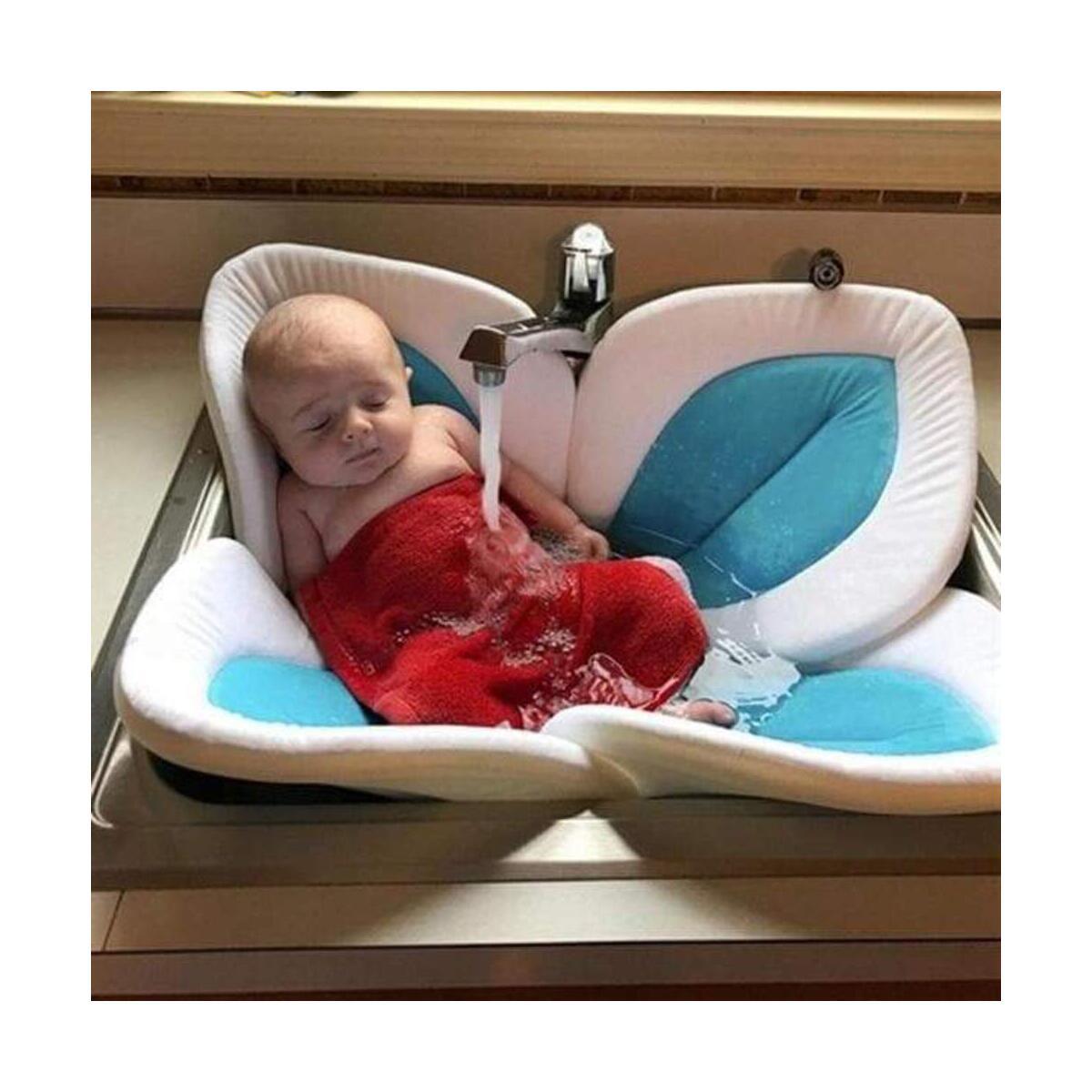 baby blooming flower bath tub petal lotus pad baby bath lotus cushion newborn blooming sink bath for baby folding non slip baby mat