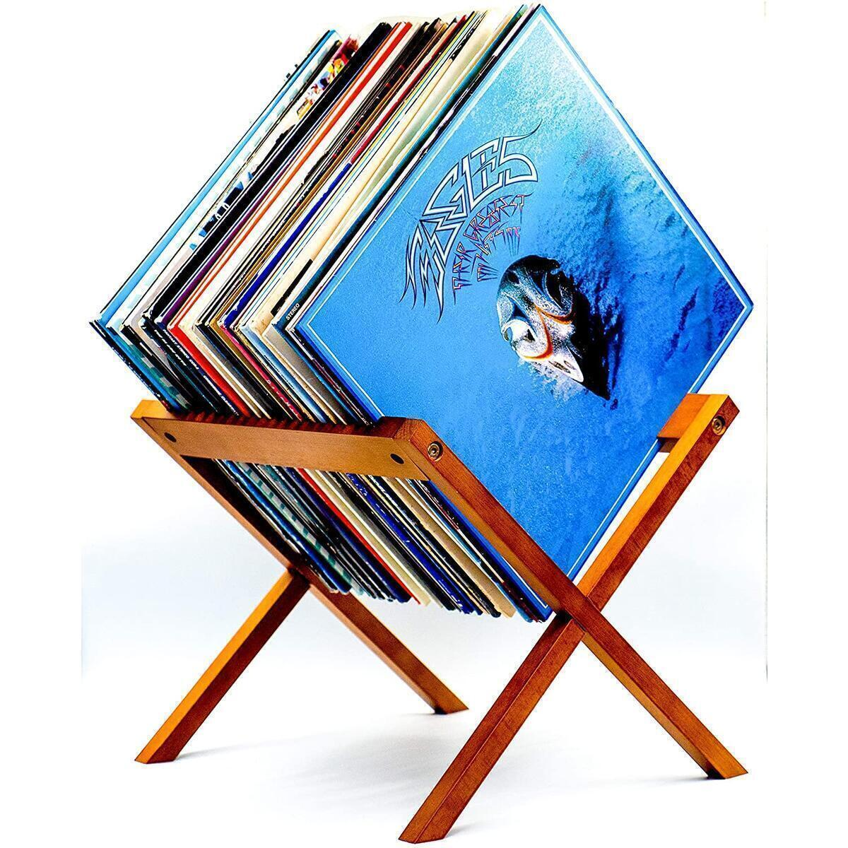 the hhc vinyl record holder single and double vinyl storage modern wooden record display rack for 12 x12 albums vinyl record storage stand lp