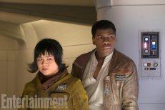 Star Wars: The Last Jedi L to R: Rose (Kelly Marie Tran) and Finn (John Boyega) Credit: David James/ILM/© 2017 Lucasfilm Ltd.