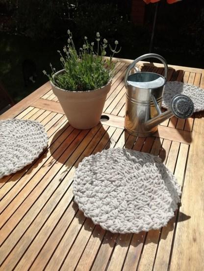 Podkładki bawełniane ze sznurka