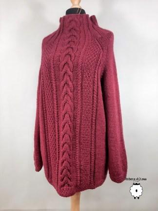 sweter damski reglanowy