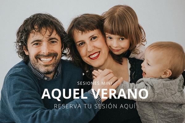 sesiones mini de fotografía para familia en verano