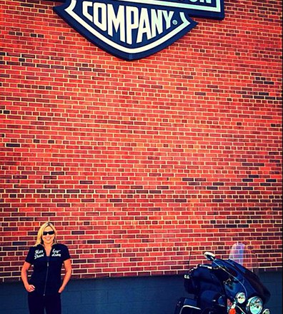 Rebecca L. Cooney at Harley Davidson