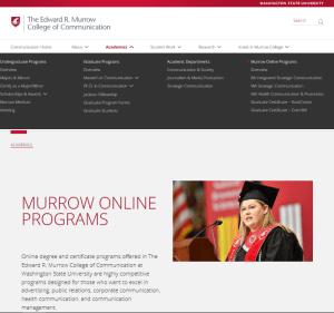 Murrow Online Programs website