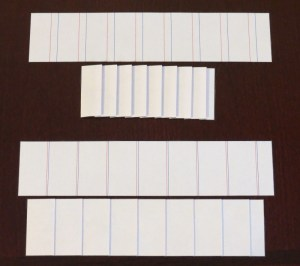 Accordion folded examples with unevenly spaced folds