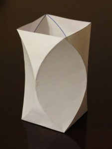 Curved crease vase