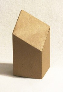 Box with a diagonal top