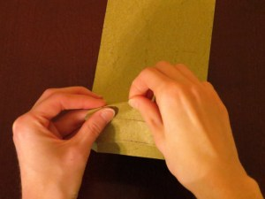 Folding curved folds free-hand