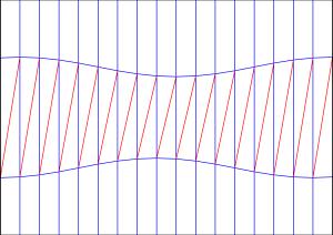 Diagonal shift crease pattern 1