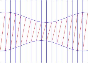 Diagonal shift crease pattern 2