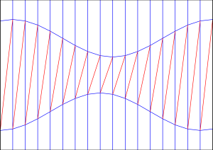 Diagonal shift crease pattern 3