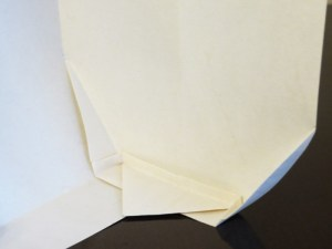 Piece 1, version 1: Folded base (inside view)