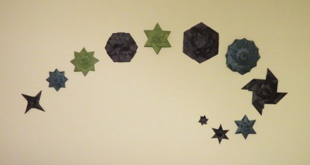 Wall origami