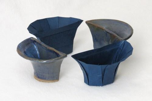 Origami/ceramic split bowl (4 parts)