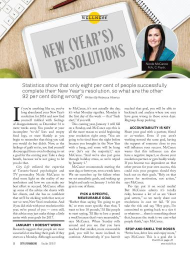 City Life Magazine - Dec/Jan 2016/17