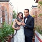 Cat in wedding photo | Make up and hair by Rebecca Anderton in Manchester at rebeccaanderton.co.uk