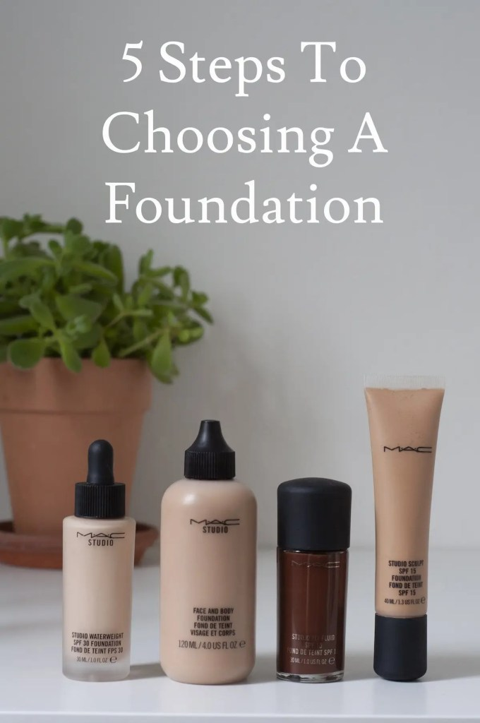 5 steps to choosing a foundation
