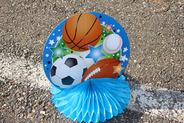 Sports Game On Table Centerpiece