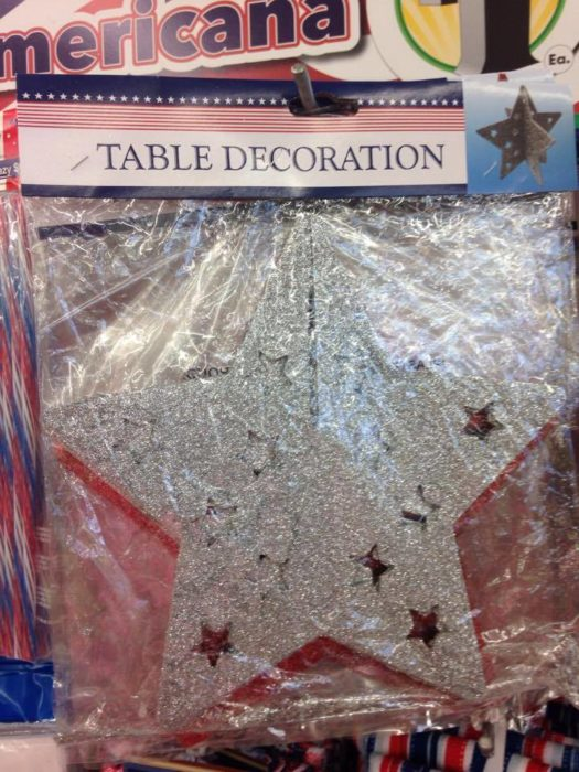 Star Table Decoration Dollar Tree