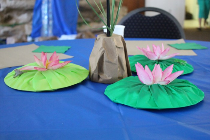 Survival Springs Lilly Pad decorations