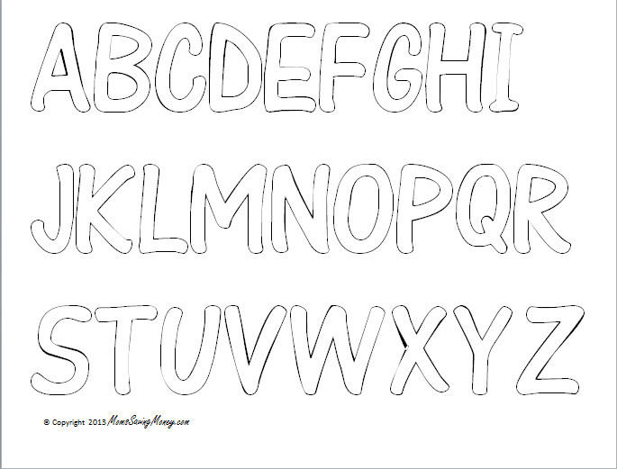 alphabet color sheet printable