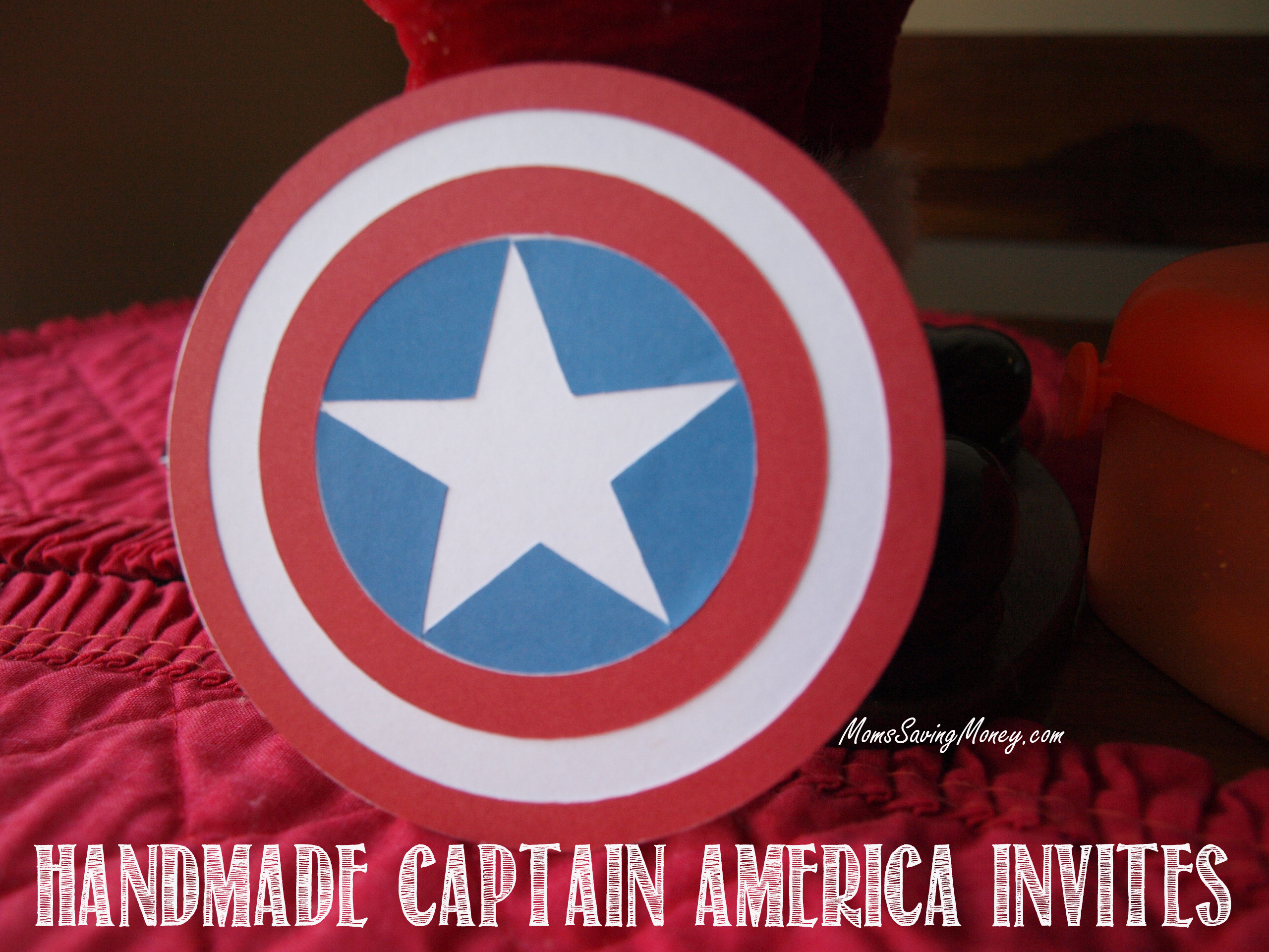 how to make captain america shield invitations