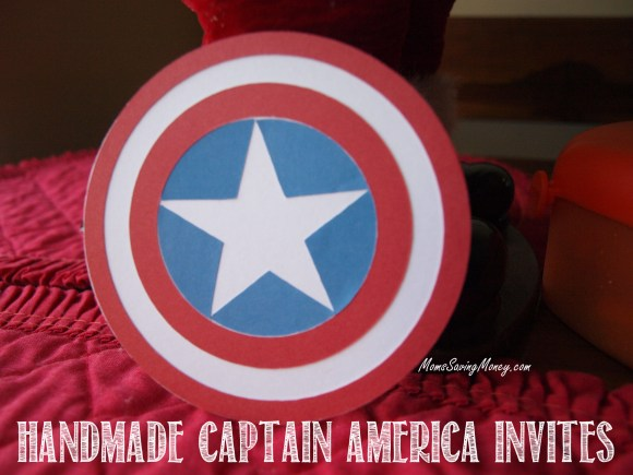 Captain America shield invites
